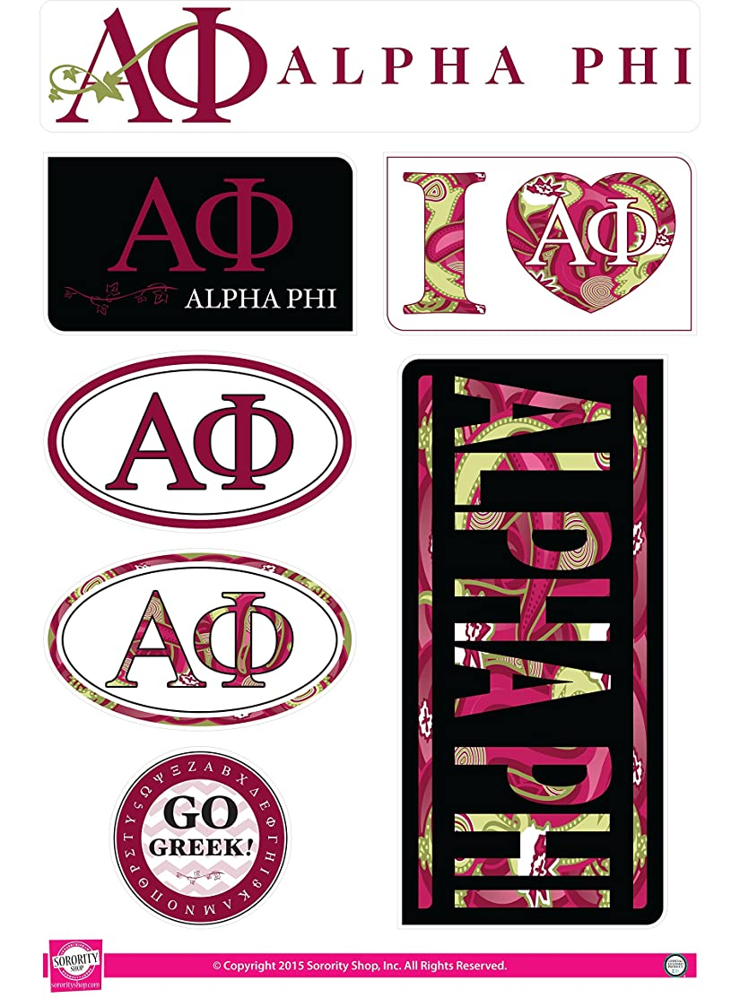 Alpha Phi - Sticker Sheet - Lifestyle Theme