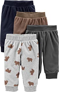 Baby Boys' 4-Pack Fleece Pants