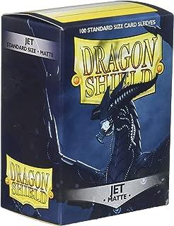 AT Sleeves: Dragon Shield Matte Jet (100) eves,  Matte Jet