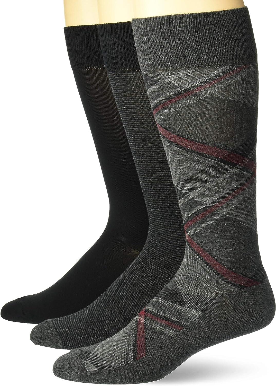 Buttoned Down Men's 3-Pack Pima Cotton Pattern Dress Socks