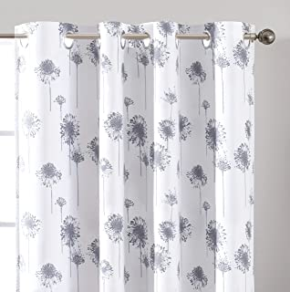 DriftAway Dandelion Floral Botanic Lined Thermal Insulated Blackout Room Darkening Grommet Energy Saving Window Curtains 2...
