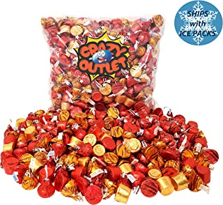 CrazyOutlet Pack - Hershey's Kisses and Rolo Chewy Caramel Chocolate Candy Assortment, Autumn Harvest, Thanksgiving Candy Mix, Bulk Pack, 2 Lbs