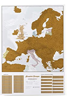Scratch Off Map Of Europe – Color Europe Wall Map – Scratch Off – 33 x 23