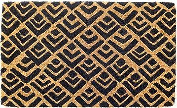 45 cm x 75 cm 100% Coir Doormat Welcome Entry Mat Block Print