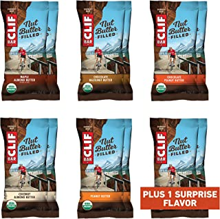 CLIF Filled - Organic Energy Bars - Variety Pack (1.76 Ounce Protein Snack Bars, 12 Count) (Packaging and Flavors May Vary)