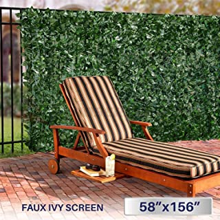 Windscreen4less Artificial Faux Ivy Leaf Decorative Fence Screen 58.5