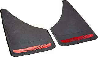 RoadSport 4649 'A' Series Universal Fit Premiere Splash Guard (Black with Red Prism; 12-3/4
