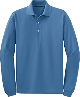 Port Authority Men's Breathable Long Sleeve Polo Shirt