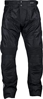 Pilot Motosport Men's Omni Air Mesh Motorcycle Over Pants (42-44, V2) (Black, 4X-Large)