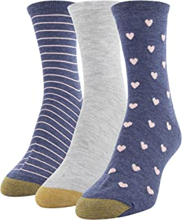 Women's Designer Collection Midi Socks, 3 Pairs