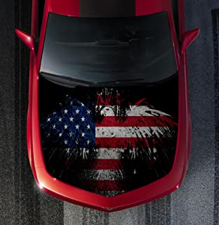 Avery H51 AMERICAN FLAG EAGLE - HOOD WRAP - Wraps Decal Sticker Tint Vinyl Image Graphic Carbon Print Laminated Printed Fiber