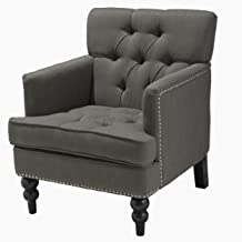 Christopher Knight Home Malone Club Chair, Charcoal Grey