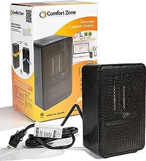 Comfort Zone Personal Ceramic Heater (Black)