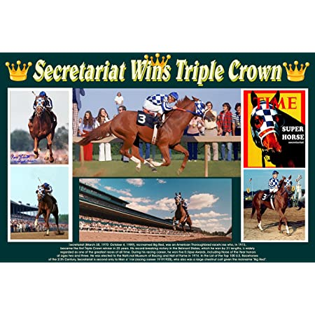 24 inch by 36 inch SECRETARIAT Poster Triple Crown Horse Photo Poster 2