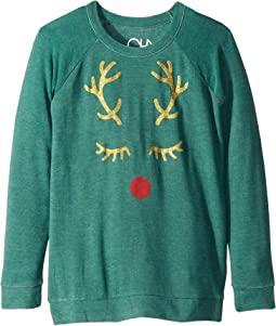 Extra Soft Reindeer Face Pullover Sweater (Little Kids/Big Kids)