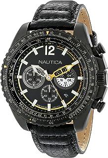 ساعة كوارتز يابانية من نوتيكا للرجال عرض انالوج لون اسود Nad22506G Nmx 1500