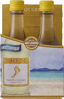 Barefoot Pinot Grigio, 4 pk, 187 ml