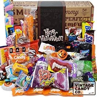 HALLOWEEN CANDY CARE PACKAGE LOADED GIFT ASSORTMENT Filled With Milk Chocolate Skulls, Eyeballs, Pumpkins, Seasonal Foil C...