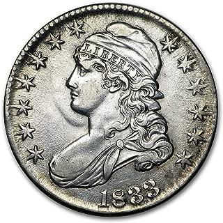 1833 Capped Bust Half Dollar AU Half Dollar About Uncirculated