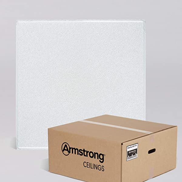 Armstrong Ceiling Tiles 2x2 Ceiling Tiles HUMIGUARD Plus Acoustic Ceilings For Suspended Ceiling Grid Drop Ceiling Tiles Direct From The Manufacturer DUNE Item 1774 16pcs White Tegular