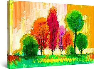 Startonight Cuadro Moderno en Lienzo Pintura Abstracta, Árboles Piruletas Coloridas, para Salon Decoración Grande 80 x 120 cm