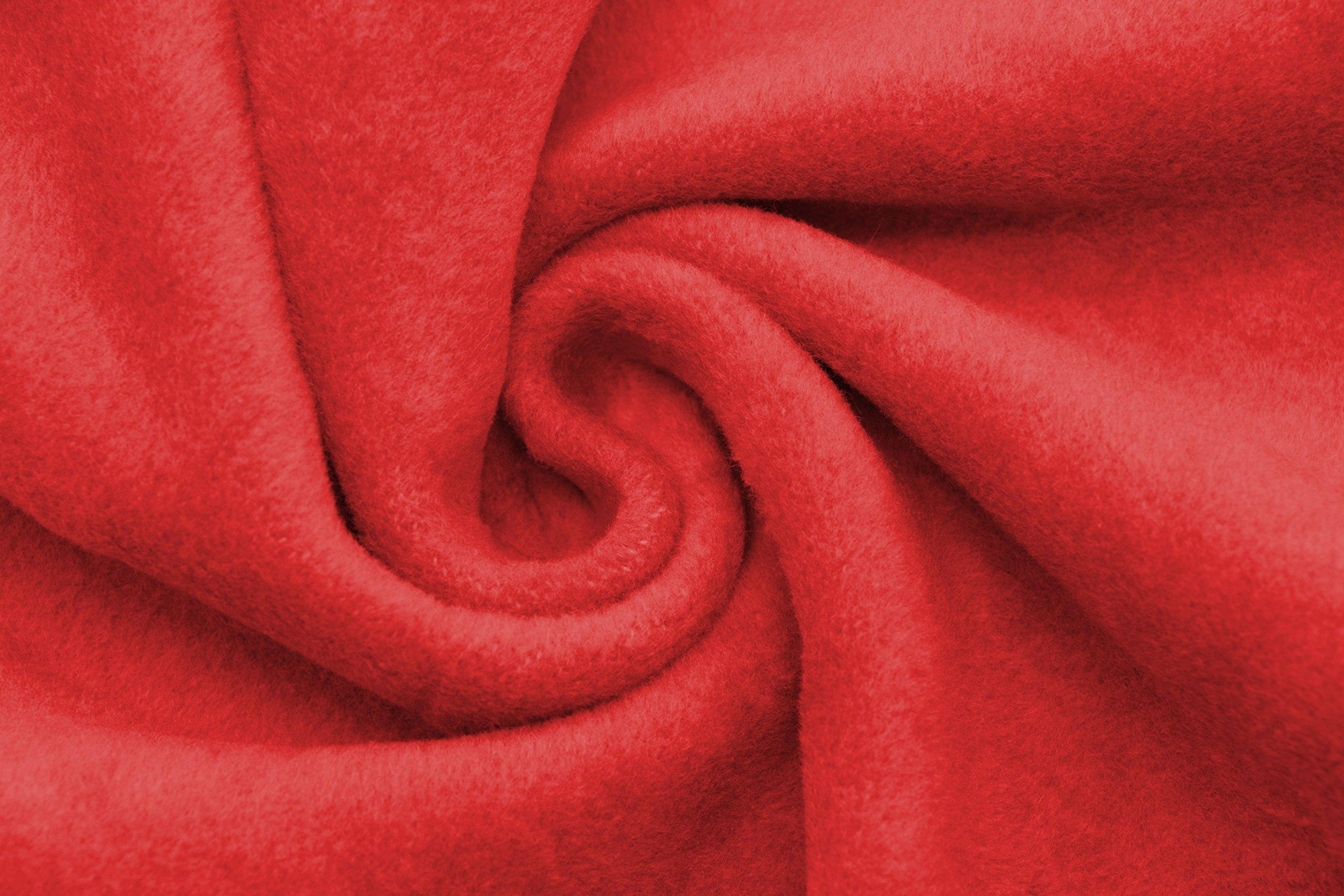 ZOLLNER Manta para Cama 90, roja, 60% algodón, Medidas: Amazon.es ...