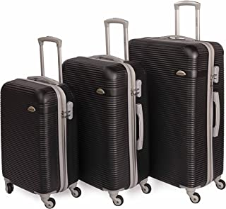 Siddique Lightweight Luggage Set Checked Bag- 20/24/28 Inches Hardshell Suitcase Spinner Luggage for Travel   ABS Luggage ...