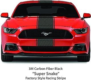 1060 Graphics Super Snake Style Stripe KIT/Carbon Fiber Black/Fits Ford Mustang 2005-14 / Premium 3M Wrap Series Vinyl/Custom Auto Car Vehicle Decals