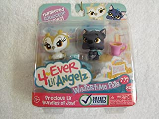 Bratz 4-Ever Lil Angelz Wintertime Pets Owl 799 and Dog 805