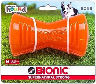 Outward Hound Bone MD Orange Dog Toy