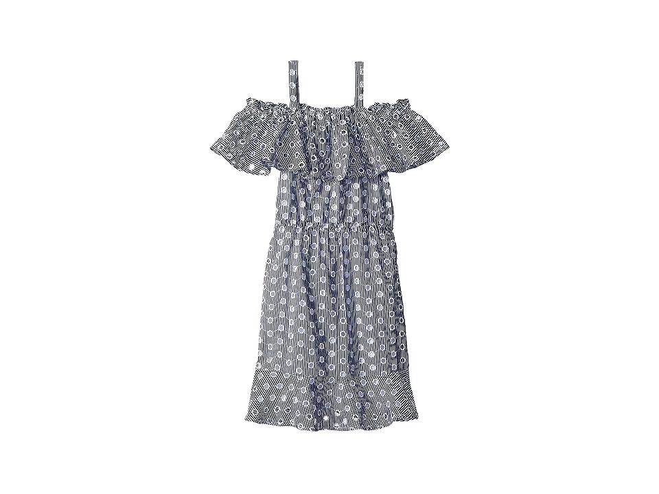 Bardot Junior Pippa Dress (Big Kids) (Navy Stripe) Girl