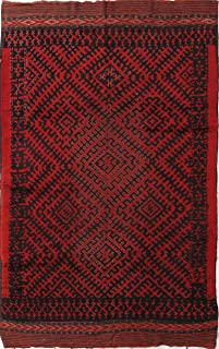 Afghan Antique Rug Size: 6.8 x 10.6