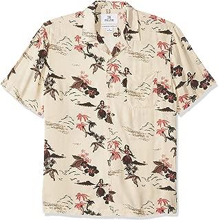 Amazon Brand - 28 Palms Men's Standard-Fit Vintage Washed 100% Rayon Tropical Hawaiian Shirt