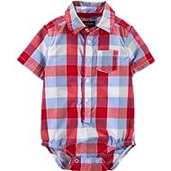 Baby Boys' Short-Sleeve Woven Bodysuit