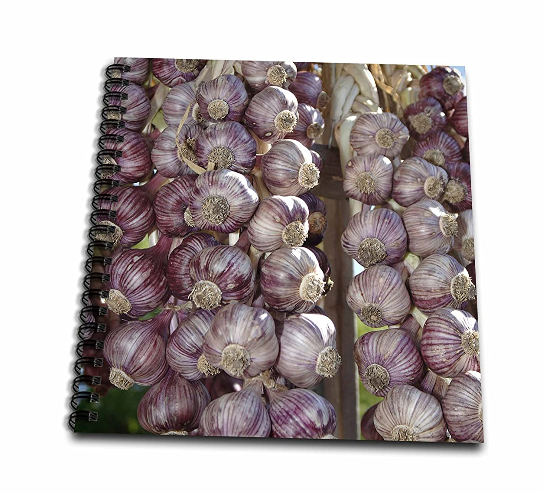 3D Rose British Columbia. Braided Garlic for Sale at Saturday Market Drawing Book