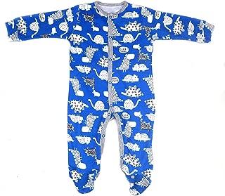 White Dragon Print Bodysuit Baby Boys Cotton Romper Lovely Blue