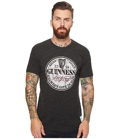 The Original Retro Brand Short Sleeve Tri-Blend Guinness Tee (Streaky Black) Men