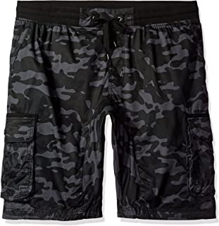 Southpole Big and Tall Men's Jogger Shorts with Cargo Pockets in Solid and Camo Colors, GreyBlack(New), 5X-Large