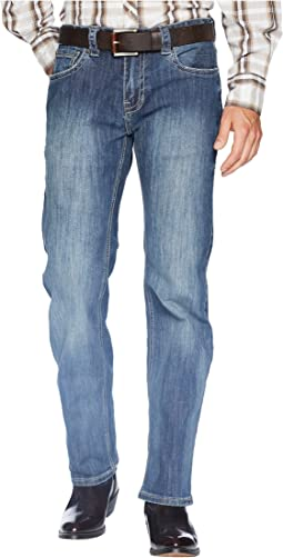 Pistol Bootcut Denim with Stitches in Dark Wash M1P6610