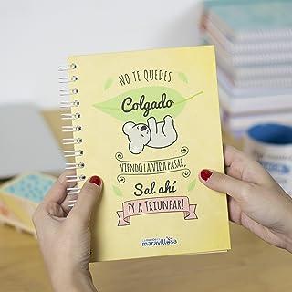 La Mente es Maravillosa - Cuaderno A5 (No te quedes colgado viendo la vida pasar, Sal ahí ¡y a triunfar!) Regalo para amiga con dibujos (Diseño koala)