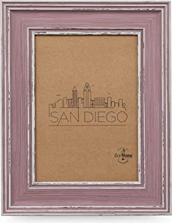 8x10 Picture Frame Distressed Rose - Wall Mount or Desktop Display, by EcoHome