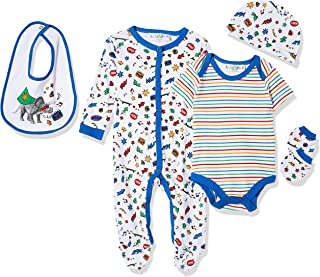 Lilly and Jack Baby Boys BOYS 5PCE MULTIPACK - PHOTOPRINT DINOSAURS Baby Clothes