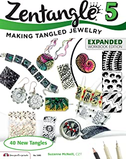 Zentangle 5, Expanded Workbook Edition: Making Tangled Jewelry (Design Originals) 40 New Tangles