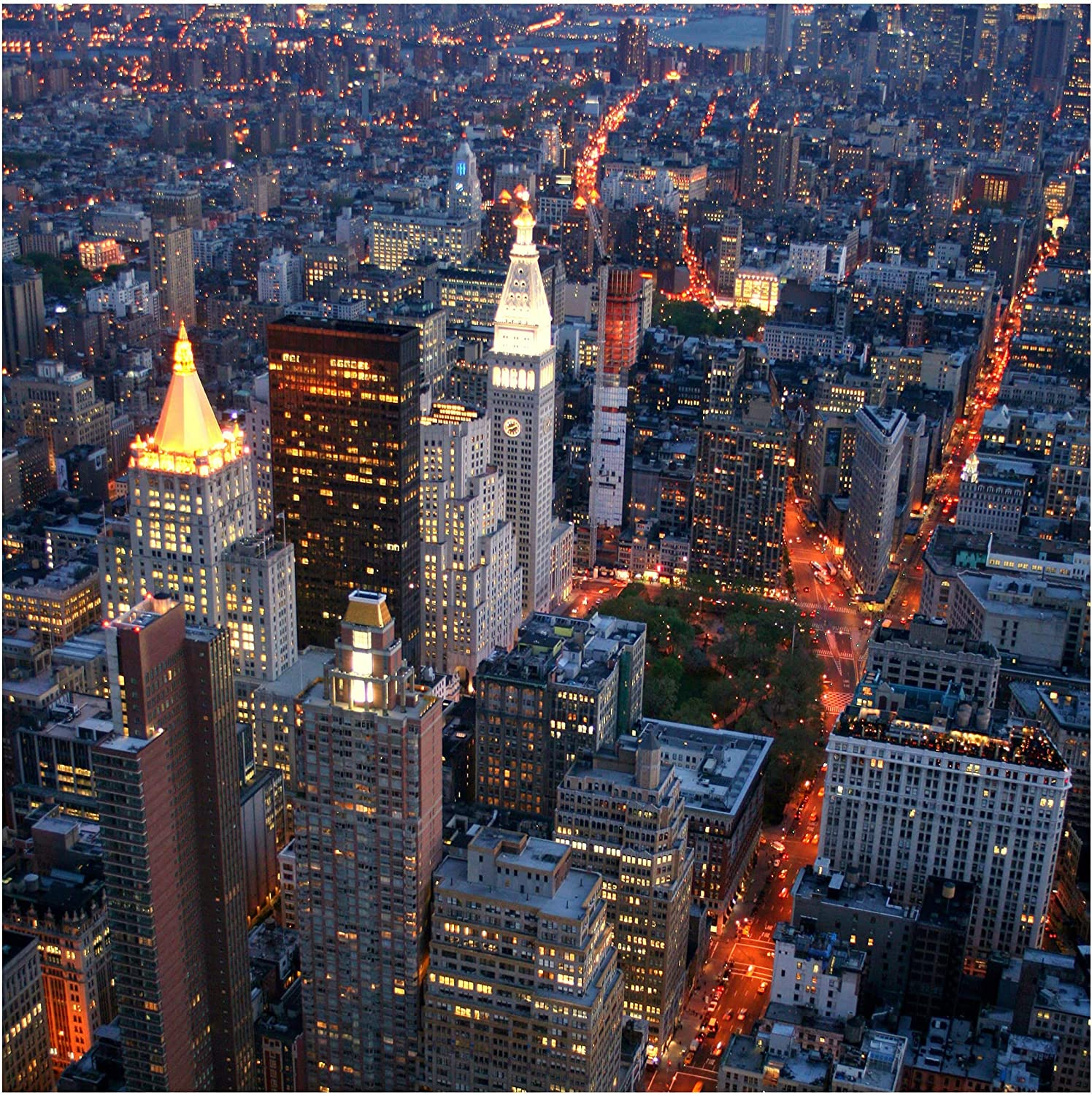 Special sale item Self-Adhesive Wallpaper New sales - Manhattan Lights Square x Format 288