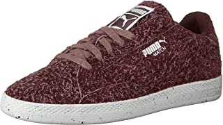 PUMA Women's Match Lo Elemental Ankle-High Fashion Sneaker Burgundy