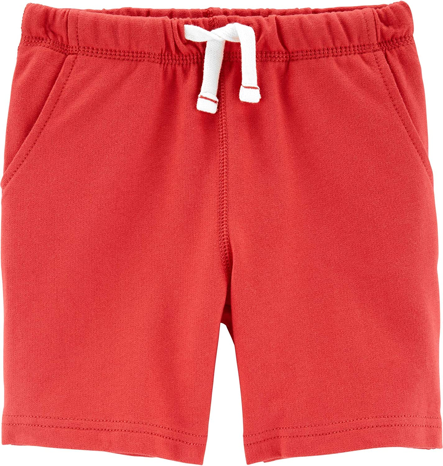 Carter's Boys Pull-On French Terry Shorts, Orange