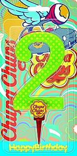 Cereria de Giorgio ch00002_ 62vela Cumpleaños gigante Chupa Chups Número 2con soporte