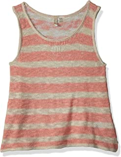 Roxy Girls ERGSW03044 Nice Surprise Tank Top Sleeveless Shirt - Pink
