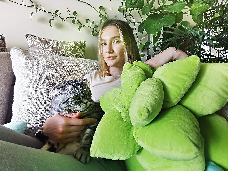 ABOUND LIFESTYLE Succulent Pillow, Cute Throw Pillows, Cactus Pillow, Plant Pillow, Plant Shaped Pillow, Leaf Shaped Pillow, Flower Shaped Pillow, Succulent Plush, Cactus Plush, Home Décor