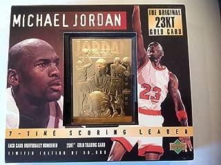Michael Jordan 23 Karat Gold Foil Trading Card (Triple Image Edition)